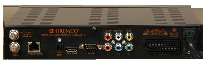 hiremco chipbox uydu alıcısı girişler