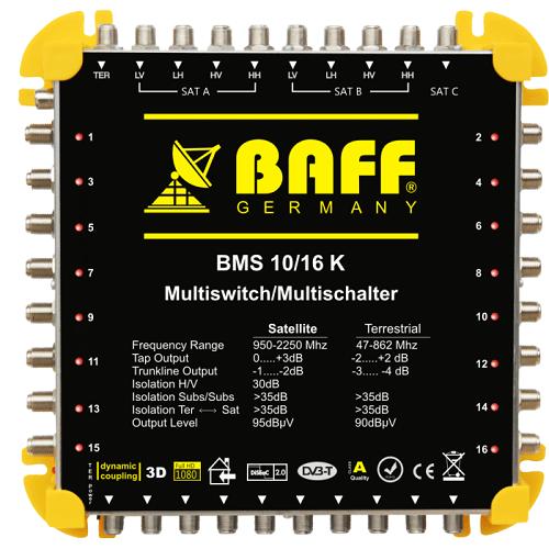 baff gold serisi 10-16 multiswitch uydu santrali
