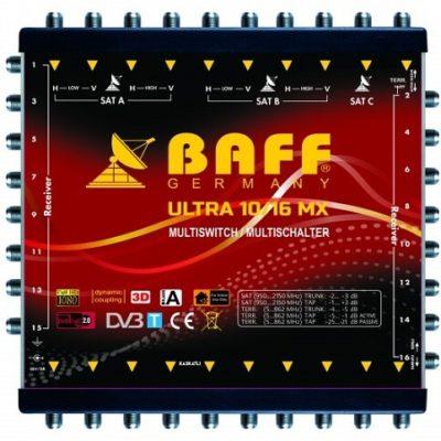 baff ultra mx serisi 10-16 multiswitch uydu santrali