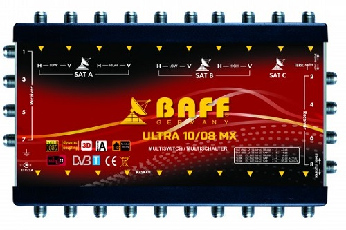 baff ultra mx serisi 10-8 multiswitch uydu santrali